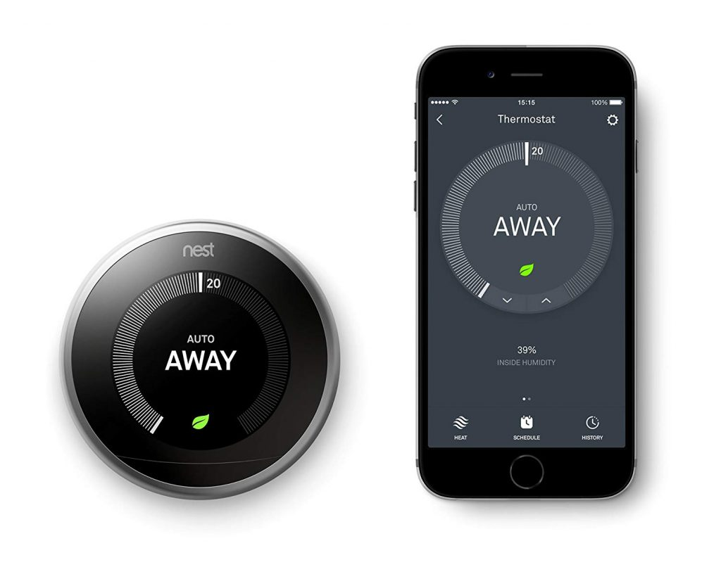 Application du thermostat connecté Nest