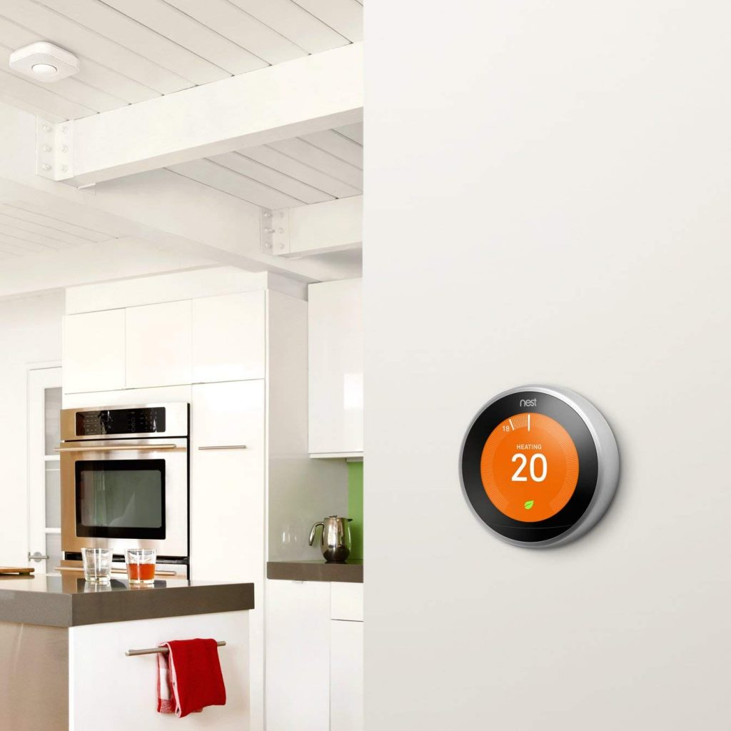 Design du thermostat connecté Nest